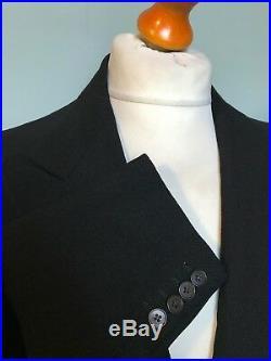 (041) Vintage mens 1930's Savile Row bespoke morning coat / tails size 36 long