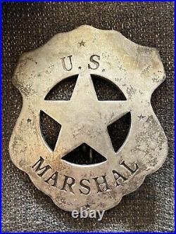 1870s Original Antique Western Cowboy LAWMAN'S VEST Old West with US MARSHAL BADGE
