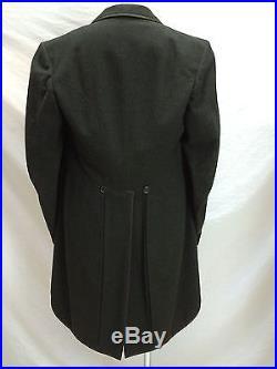 1929 dtd 3 Pc Suit Mourning Jacket Vest Pants Weber & Heilbroner Sz 38R-31W-31I