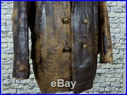 1930's Leather Barnstormer Jacket XL Vintage Motorcycle Horsehide Goatskin Rare