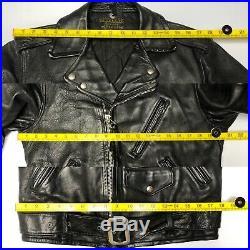1950's Schott 613 Perfecto One Star Horsehide Black Label Leather Jacket S 38