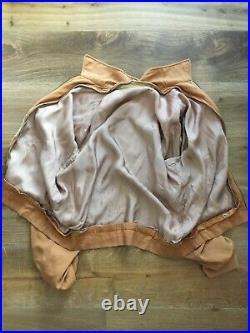 1950s McGregor Orange Gabardine Jacket Zip Out Liner Vest Rockabilly RARE VTG
