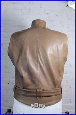 1980s Issey Miyake Vest Sheep Skin Leather Very Rare