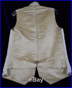 19th Men Fancy Dress 1830s Vest Embroider Floral Waistcoat Court Ball Regency