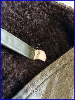 40s 50s Green Deck Vest Alpaca Lined Military WWII Korean War USN Small 38