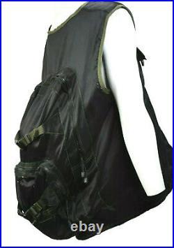 90s Vintage Macgear Mens XL Black Full Zip Backpack Vest Combo Pockets Rave