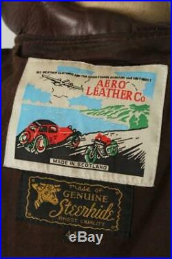 AERO Scotland STEERHIDE'Hercules' Leather Motorcycle Sports Jacket 44