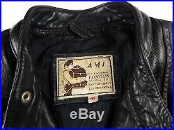 AMI British Motorcycle Leather Jacket M / L Vintage Cafe Racer Lewis Style