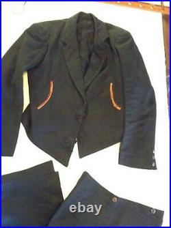 ANTIQUE Spanish Mens dress Suit Waistcoat & Pants