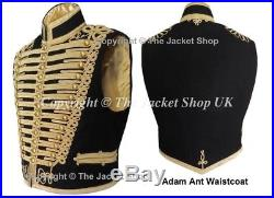 Adam Ant Waistcoat Gilt Braid Professional Military All Sizes