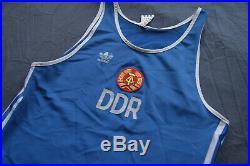 Adidas DDR Tank Top Shirt Olympic Athletics Vest Vintage Retro 80er Sport