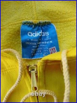 Adidas Vintage Hoodie veste made in France 70's, création Ventex 186cm, L