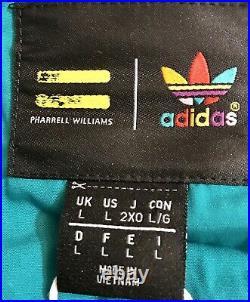 Adidas x Pharrell Williams Hu Hiking Gilet Vest, Size Large, Tan/teal, CE9488 NWT