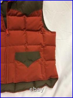 Amazing Vintage 70s Down by Schott Puffy Vest Mens XL Talon Zipper