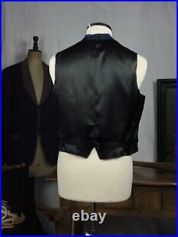 Antiqe waistcoat Vtg silk waistcoat Victorian vest 1900 Vtg waistcoat steampunk