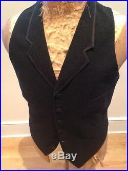 Antique Edwardian Gents Cutaway Morning Coat & Matching Vest (M)