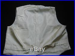 Antique Edwardian Men's Vest Waistcoat, Glass Studs, Mann & Dilks, Philadelphia