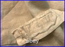 Antique Victorian Edwardian Pinstripe Textured Cotton Waist Coat Vest S-M