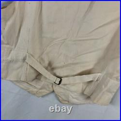 Antique Vintage 1930s Waistcoat Vest Buckle Back