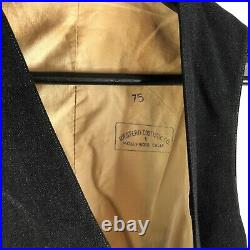 Antique Vintage 1930s Waistcoat Vest Buckle Back Denim