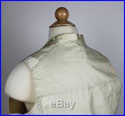 Antique Waistcoat Antique Vest Wedding Ivory Silk with Embroidery 1840 to 1850