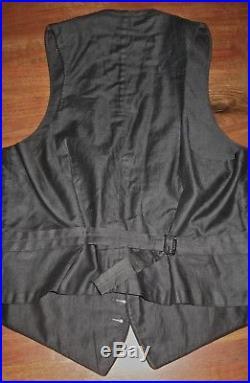 Antique tail coat ensemble jacket, vest, trousers w button fly, 1930s good cd