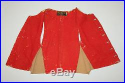 Antique vtg 1890s CHAMOIS LEATHER WORK VEST Victorian Great for Stage Movie Prop