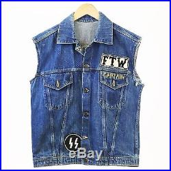 Black Spades MC Moto Gang Reissue Vest Vintage Levis Denim Jacket Bronx Ftw