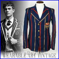 BLAZER 1920s JACKET VINTAGE COAT 20s 30s BOATING GATSBY VICTORIAN DANDY RARE
