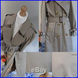 BURBERRY Homme'Burberrys' Prorsum Classic Beige Trench Coat UK M 12 14 Vintage