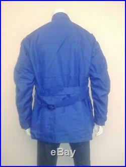 Belstaff Vintage Trail Master XL 500 Nylon waterproof biker jacket with belt