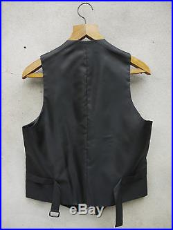 Black Formal Waistcoat by Tails and the Unexpected 100% British Wool