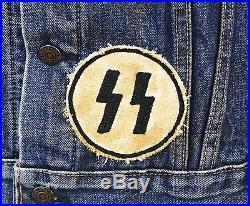 Black Spades MC Moto Gang Reissue Vest Vintage Levis Denim Jacket Bronx
