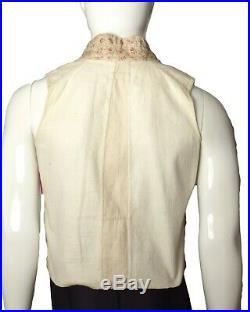 C. 1820 Mens Regency Floral Wool Waistcoat