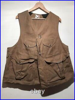 C. C. Filson Vintage Tin Cloth Vest Style 32 Hunting Upland Mens XLarge USA Made
