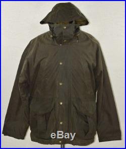 CC Filson Tin Cloth Packer Coat WITH 100% WOOL VEST liner Mens Large L Vintage