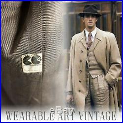 COAT CC41 40s VINTAGE JACKET 30s 50s DUNN & CO WWII TWEED CLASSIC FILM NOIR RARE
