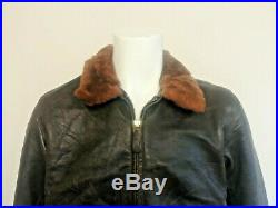 COCKPIT Type G -1 N. Y. C AIR FORCE Leather Bomber Jacket. Made in USA