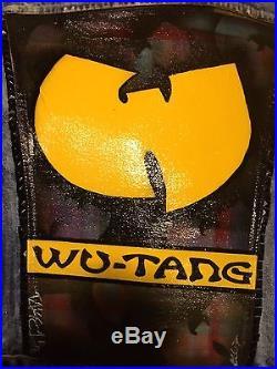 CUSTOM JEAN VEST (Wu-Tang) art vintage punk rock hip hop grunge graffiti