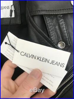 Calvin Klein Herren Biker Lederjacke, neu, Gr. M/48