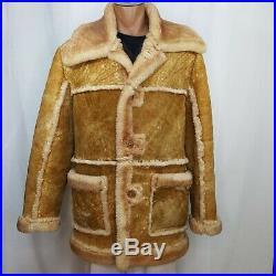 Caribou Clothes Vintage 1980 Shearling Sheepskin Coat Men's XL Marlboro Man