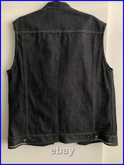 Clutch Monkey motorcycle selvedge vest dark indigo