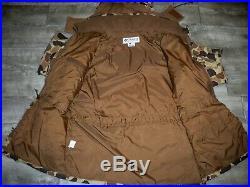 Columbia Camouflage Jacket Vtg Camo Duck Hunting Marsh Bomber Size Men's XLarge