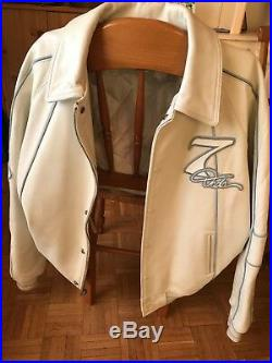 Damani Dada Supreme veste en cuir blanche/white leather jacket collector XXL