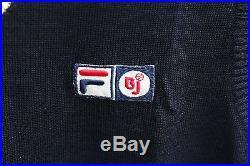 Deadstock FILA BJORN BORG Original Wool Sweater Vest Size 44 Made in Italy VTG