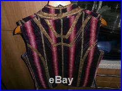 Edwardian Gentleman's Velvet & Silk Waistcoat size 38