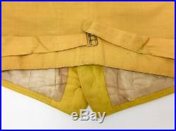Edwardian Mens Vest Vintage Hunting Shooting Outdoor Wool British Antique Yellow