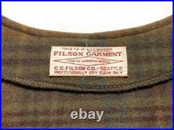 FILSON Rare 80s FILSON Mackinaw Wool Vest Check Old Clothes Vintage XX No. 13580