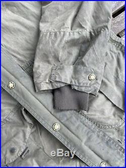 Filson Rare Vintage Oiled Tin Cloth Jacket Double Zipper Rain Hood Men's Large