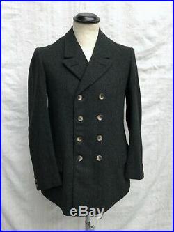 French Vtg Double Breasted Jacket 1930s Vtg Chore Jacket Veste Ancienne S 36-38